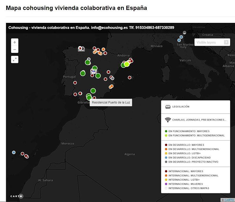 mapa cohousing